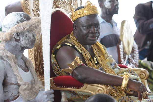 Le roi Amon N'Douffou V à Krindjabo, le 12 août 2009