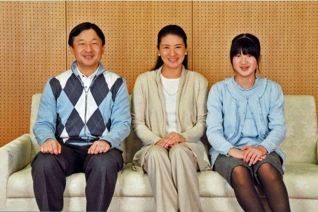 Le prince Naruhito, Masako et leur fille, Aiko.