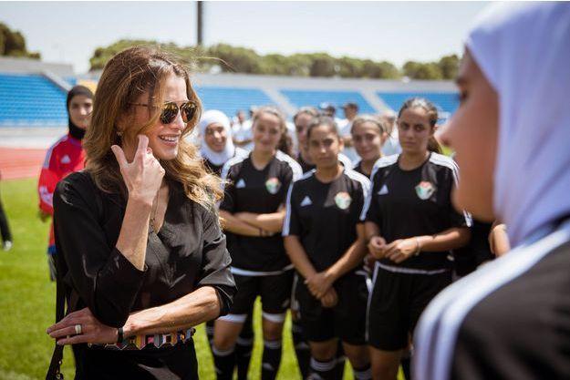 La reine Rania de Jordanie à Amman, le 23 août 2016