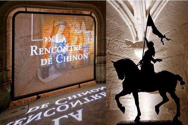 """La rencontre du futur roi Charles VII et de la """"pucelle d'Orléans"""" est évoquée à l'Historial Jeanne d'Arc à Rouen"""