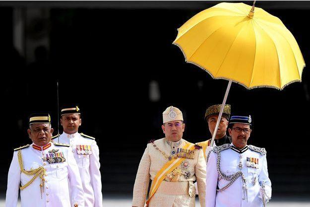 Le sultan Muhammad V, nouveau roi de Malaisie, le 13 décembre 2016