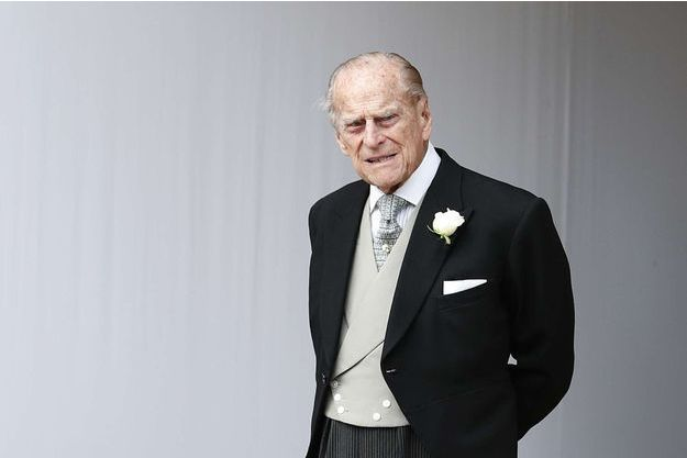Le prince Philip au mariage de sa petite-fille la princesse Eugenie d'York à Windsor, le 12 octobre 2018