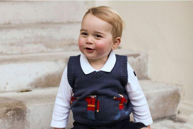 Le prince George à Kensington Palace à Londres, en novembre 2014