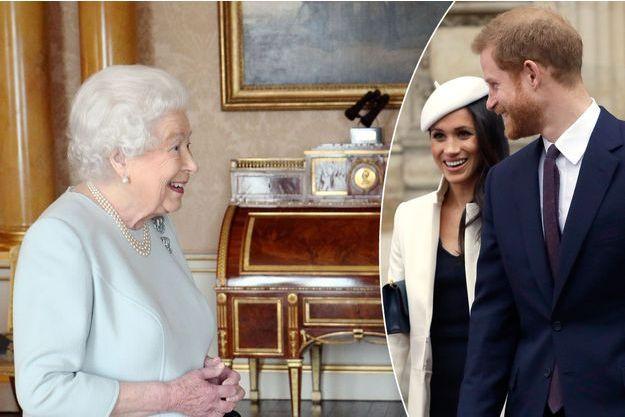 La reine Elizabeth II le 14 mars 2018 - Meghan Markle et le prince Harry le 12 mars 2018