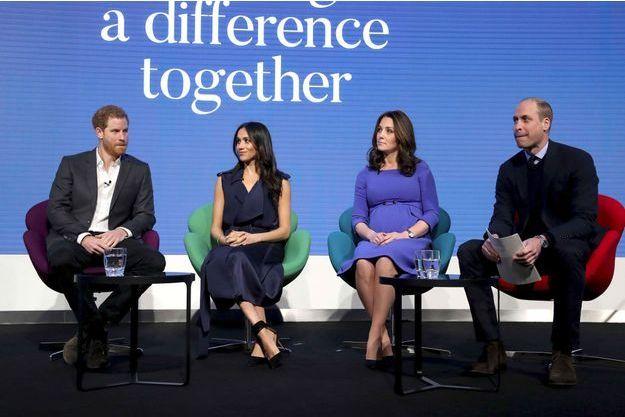 Harry, Meghan, Kate et William, réunis au Royal Foundation Forum en février dernier.