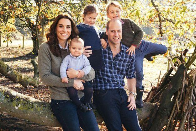 Kate, William et leurs trois enfants Louis, Charlotte et George.