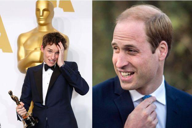 Eddie Redmayne avec son Oscar à Hollywood, le 22 février 2105 – Le prince William à Pékin, le 2 mars 2015