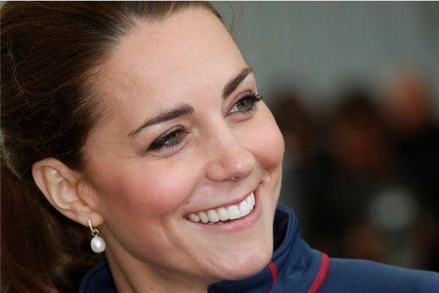 La duchesse de Cambridge, née Kate Middleton, lors de sa dernière sortie, le 26 juillet 2015 à Portsmouth