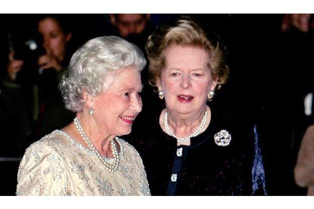 La reine Elizabeth et Margaret Thatcher en 2005