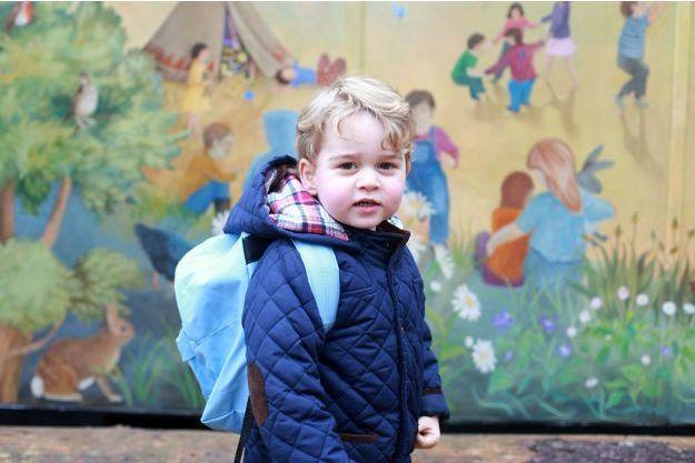 Le prince George à la Westacre Montessori School Nursery le 6 janvier 2016