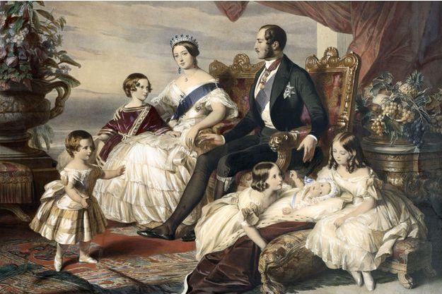 La reine Victoria, le prince Albert et cinq de leurs enfants par Frederick Winterhalter