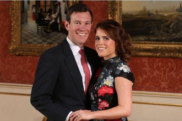 La princesse Eugenie d'York et Jacl Brooksbank, le jour de l'annonce de leurs fiançailles, le 22 janvier 2018