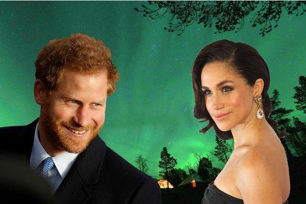 Harry et Meghan sur une aurore boréale à Tromso