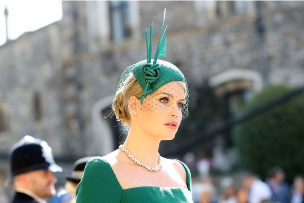 Kitty Spencer au château de Windsor, le 19 mai 2018