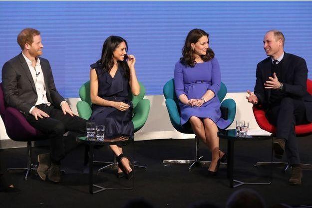 Harry, Meghan, Kate et William le 28 février 2018.
