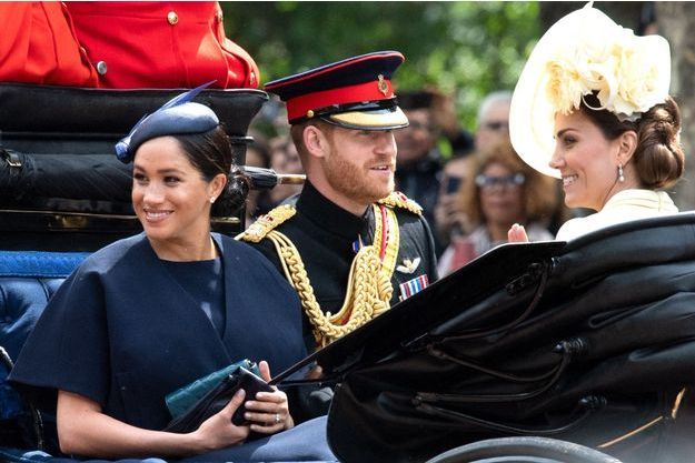 Meghan Markle, Kate Middleton et le prince Harry à Londres, le 8 juin 2019