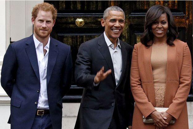 Prince Harry, Barack Obama, Michelle Obama