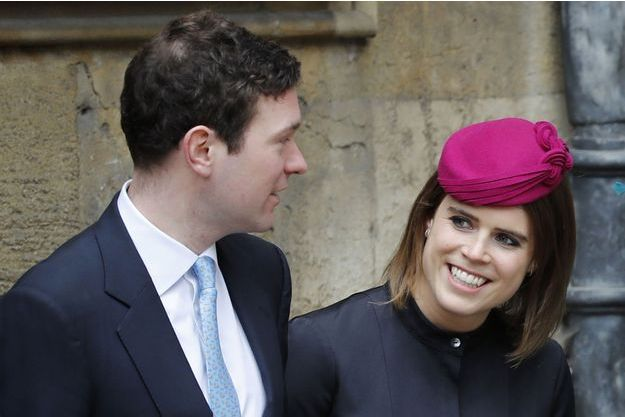 La princesse Eugenie d'York et son fiancé Jack Brooksbank, le 1er avril 2018