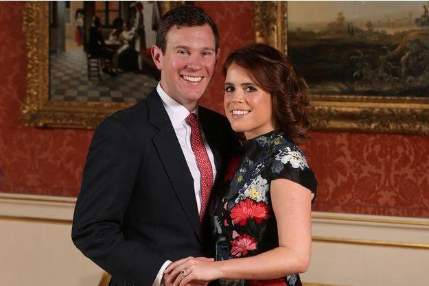 La princesse Eugenie d'York et son fiancé Jack Brooksbank, le 22 janvier 2018