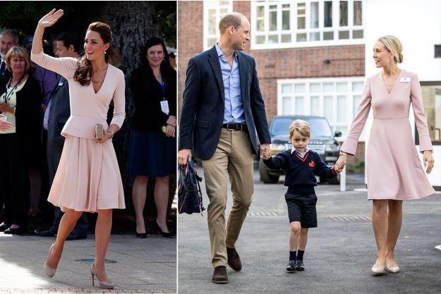 La duchesse de Cambridge, née Kate Middleton, à Adélaïde le 23 avril 2014 - Les princes George et William à Londres, le 7 septembre 2017