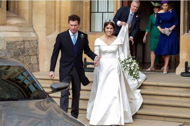 Les mariés Jack Brooksbank et Eugenie d'York
