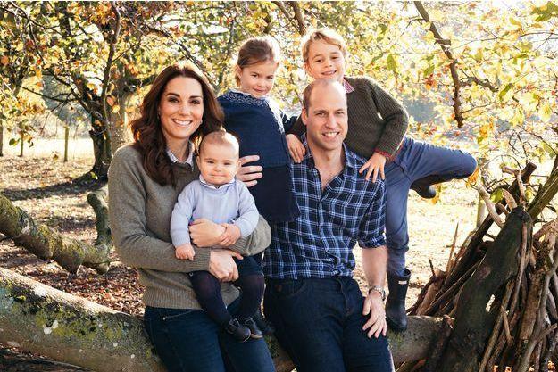 Kate Middleton, le prince William et leurs enfants à Londres, le 14 décembre 2018