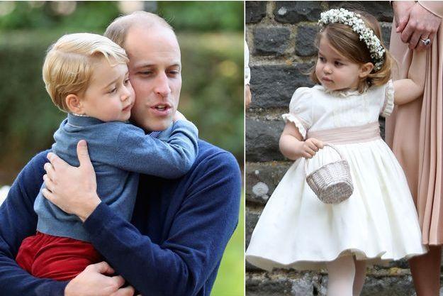 Le prince William avec son fils le prince George à Victoria, le 29 septembre 2016 - La princesse Charlotte de Cambridge à Englefield le 20 mai 2017