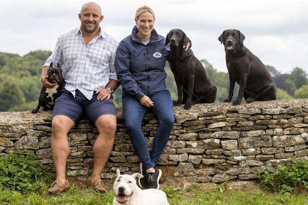 Zara Phillips avec l'ancien rugbyman David Flatman qui l'a interviewé à l'été 2018