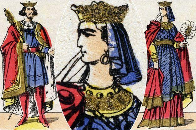 Images d'Epinal du XIXe siècle figurant le roi Henri Ier et la reine Anne de Kiev