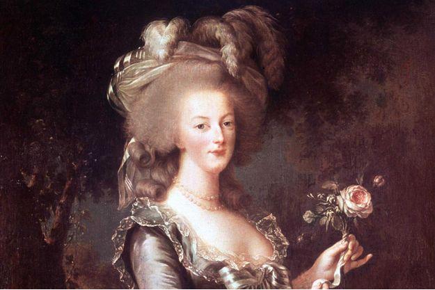 """""""Marie Antoinette à la Rose"""", portrait par Elisabeth Vigée-Lebrun, 1784, conservé au Château de Versailles"""