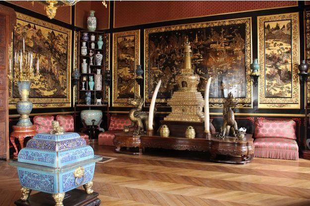 Détail du Musée chinois de l'impératrice Eugénie au château de Fontainebleau
