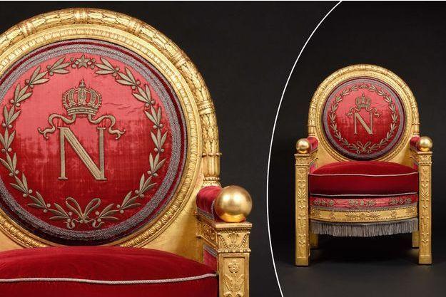 Le trône de Napoléon Ier vendu aux enchères à Fontainebleau le 7 avril 2019