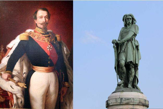 Portrait de Napoléon III par Winterhaler (musée de l'Armée aux Invalides) – Statue de Vercingétorix à Alise-Sainte-Reine
