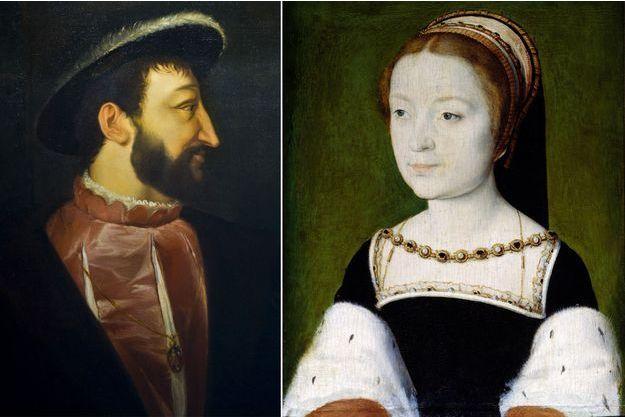 Portrait de François Ier (château de Chambord) - Portrait de Madeleine de France, par Corneille De Lyon (musée du château de Versailles)