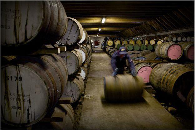 Dans la distillerie de Benriach.