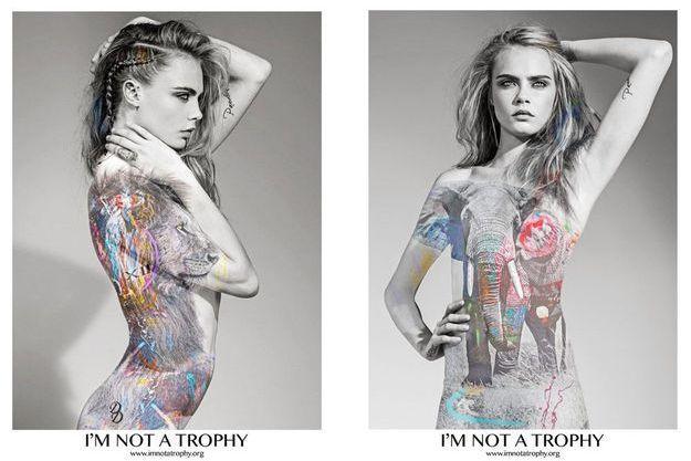 """Cara Delevingne photographiée par Arno Elias pour """"I'm not a trophy"""""""