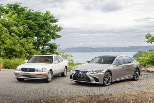 Trente années séparent ces deux Lexus.