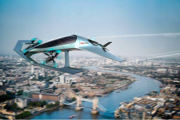 Ce concept de taxi volant d'Aston Martin a été fait en partenariat avec Rolls-Royce.