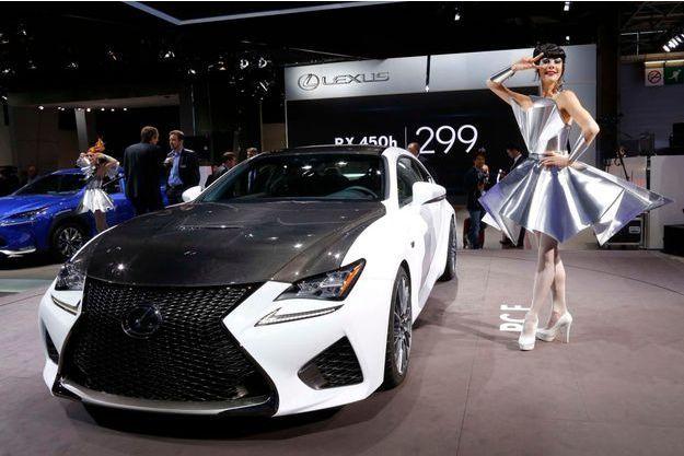 La Lexus RCF, jeudi, au Mondial de l'automobile de Paris.