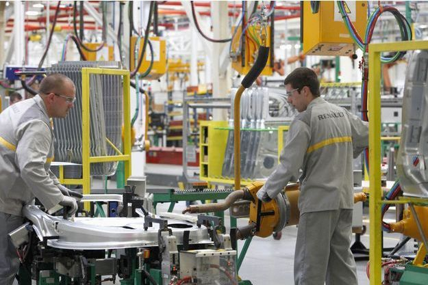 Dans l'usine slovène où est fabriquée la nouvelle Renault Twingo, en mai dernier.
