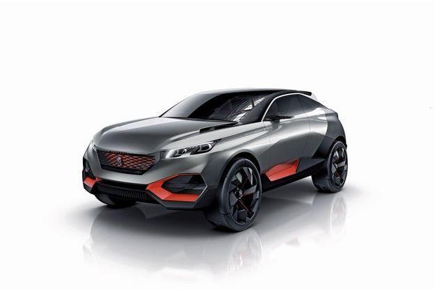 Peugeot Quartz, en première mondiale au Salon de l'automobile.