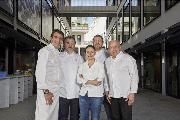 Les chefs étoilés Yannick Alléno, Pierre Hermé, Anne-Sophie Pic, Olivier Bellin et Thierry Marx.
