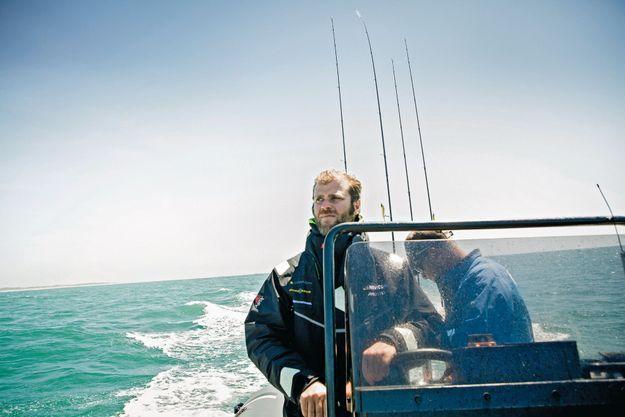 Pour décompresser, le chef s'en va chaque semaine pêcher le bar à bord de l'« Andalou », son bateau de 6,50 mètres.
