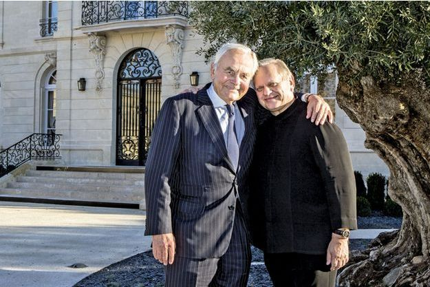 Bernard Magrez et Joël Robuchon.