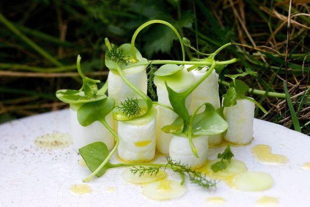 Le croquant du concombre et le moelleux du blanc d'œuf : ce plat d'Alexandre Gauthier a été conçu comme une guimauve.