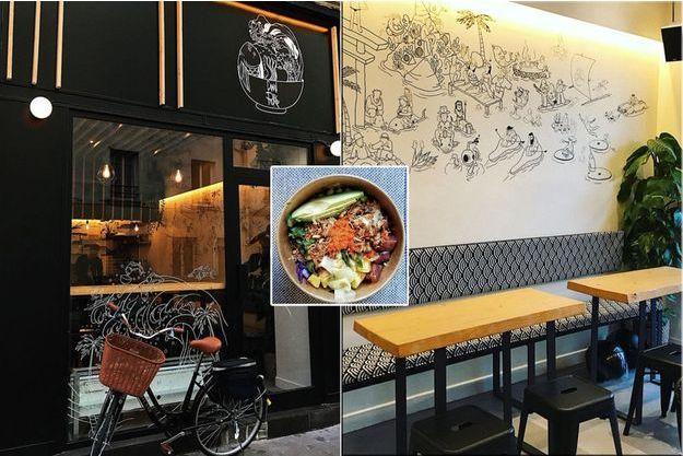 Canal Poké se situe rue Bichat dans le 10e arrondissement de Paris. Un deuxième restaurant a ouvert à Opéra.