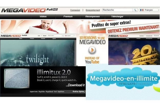 Megavideo.com : aussi populaire que Youtube et Dailymotion, mais illégal.