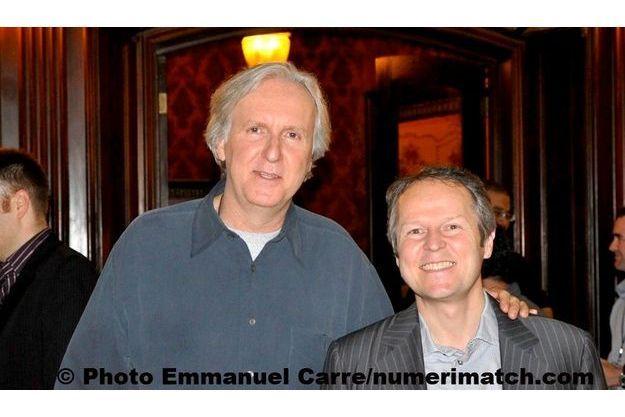James Cameron et Yves Guillemot, le P-DG d'Ubisoft