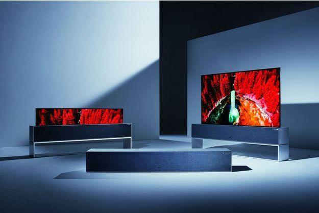 L'écran souple Signature Oled R a été présenté par LG au Consumer ElectronicsShow, le salon mondial des innovations technologiques, en janvier à Las Vegas.
