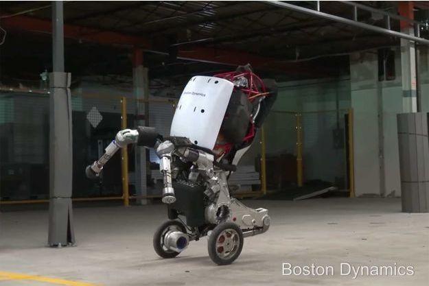 Capture d'écran d'Handle, le dernier robot de Boston Dynamics.